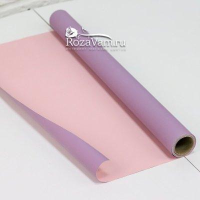 Двусторонняя бумага сиренево-розовая