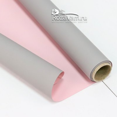 Матовая двусторонняя бумага серо-розовая