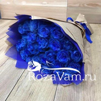 Букет из 25 синих роз