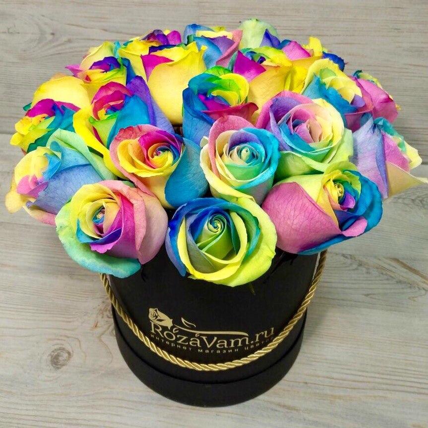 Радужные розы купить в москве без доставки цветы искусственные ромашки пластмассовые купить ростов