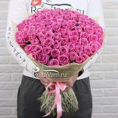 Букет из 101 розовой розы (50 см)