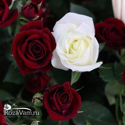 Корзина микс из роз