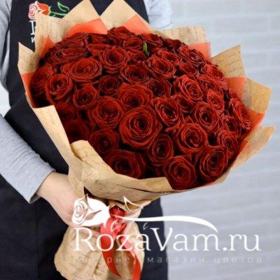 Букет из 51 красной розы (50 см)