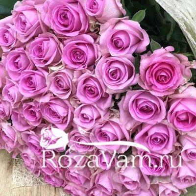 Букет из 51 ярко розовой розы 50 см)