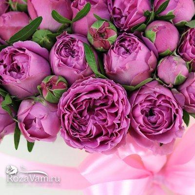 Шляпная коробка из пионовидных роз ( XXL )
