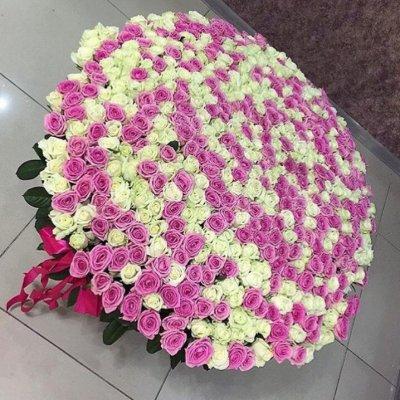 Корзина из 1001 розы