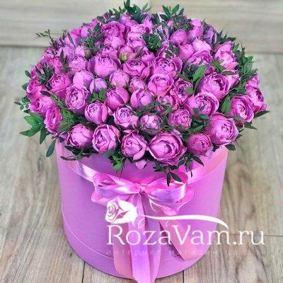 коробка пионовидных роз  (L)