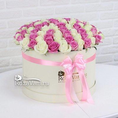 Шляпная коробка из 101 розы