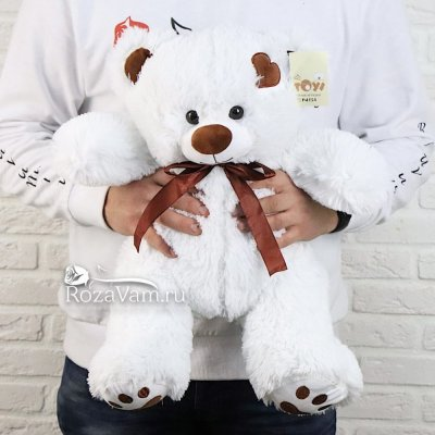 Мишка  Тони белый 65 см