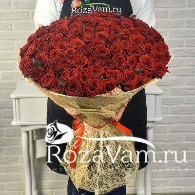 Букет из 101 красной розы 70 см)