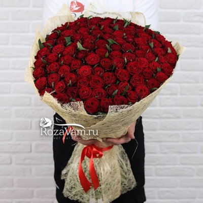 Букет из 101 красной розы ( 70 см)