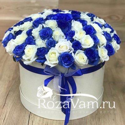 Шляпная коробка из 101 розы эквадор