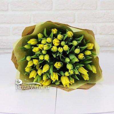 букет из жёлтых тюльпанов 25 шт